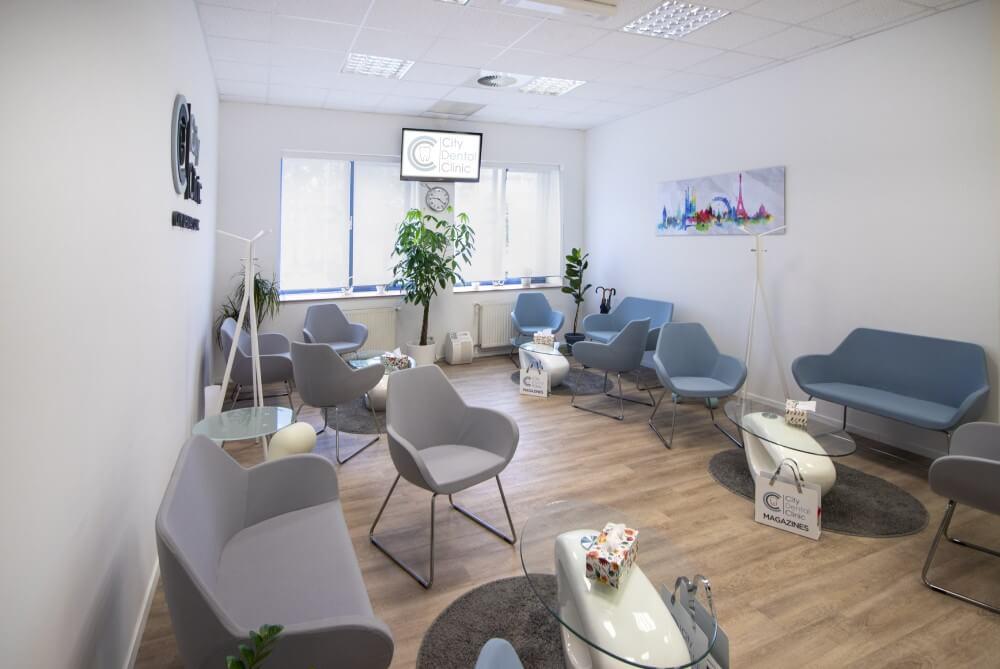 Čakáreň v City Dental Clinic Bratislava